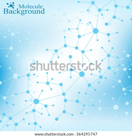 Molecule and communication with connected dots and lines. DNA molecule structure. Graphic background for your design . Vector Illustration