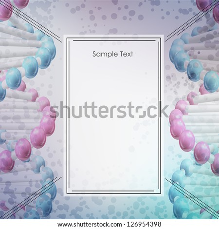 Molecule background. Vector Illustration, eps10, contains transparencies. - stock vector