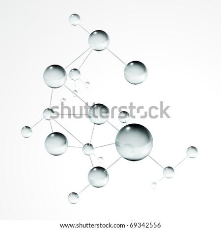 Molecule, eps10 - stock vector