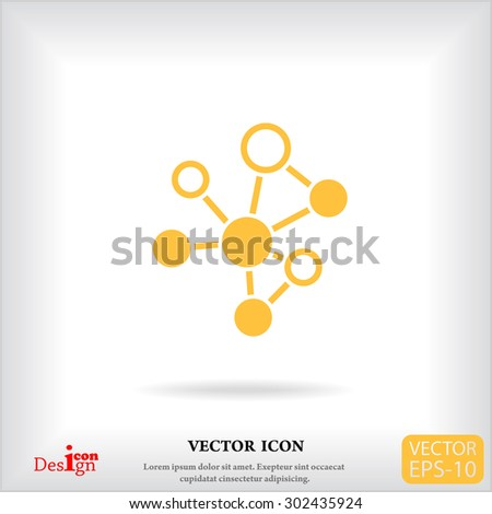 molecule vector icon - stock vector