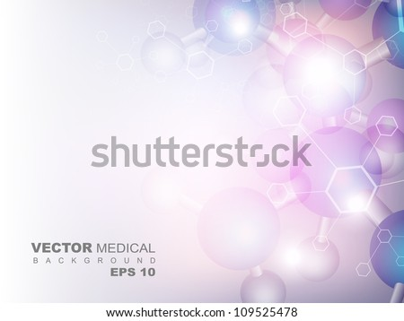Molecules background. EPS 10. - stock vector