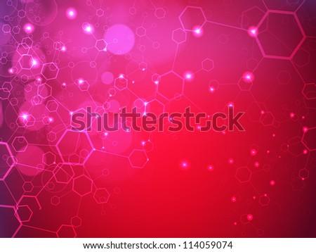 Molecules background. EPS 10. - stock vector