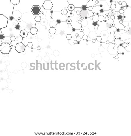 Molecules Concept of neurons and nervous system vector