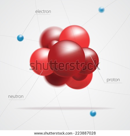 Molecules structure vector - stock vector