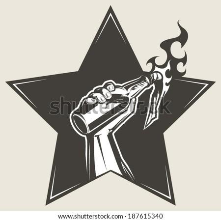 Molotov Cocktail - stock vector