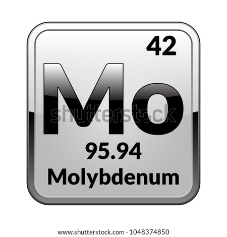 Molybdenum Symbolchemical Element Periodic Table On Stock Vector