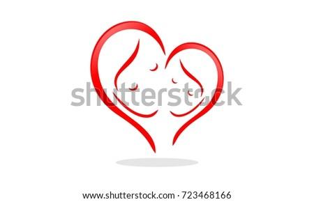 Mom Daughter Logo Stock Vector Royalty Free 723468166 Shutterstock