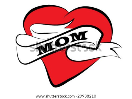 mom tattoo vector clip-art background