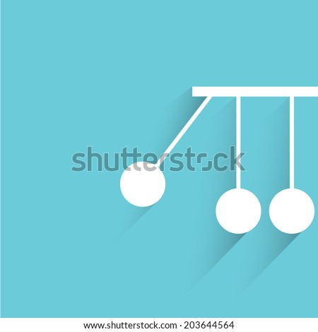 momentum, blue background, flat and shadow theme - stock vector
