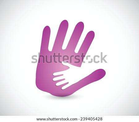 mommy and daughter holding hands. illustration design over a white background - stock vector