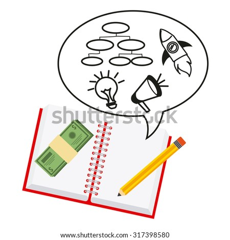 monetary analysis design, vector illustration eps10 graphic