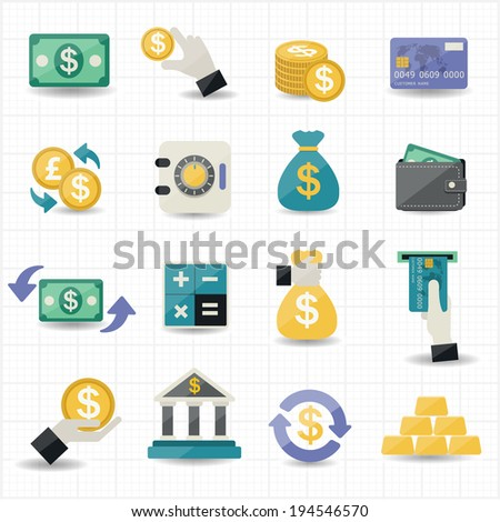 Money and Finance Icons - stock vector