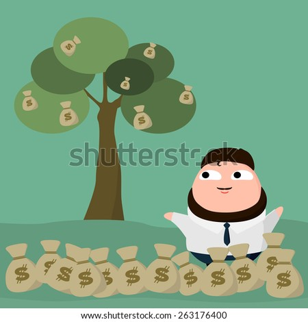 money and  tree made in vector