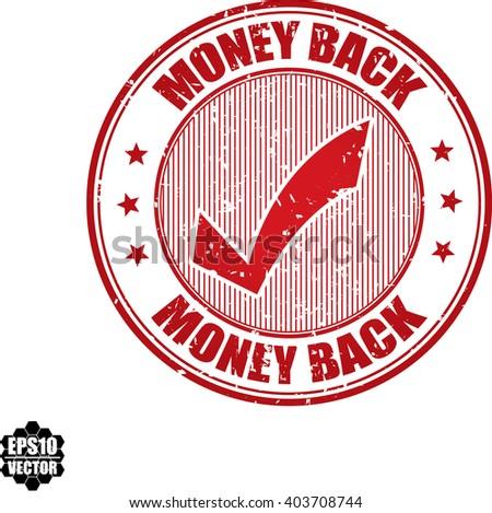 Money back grunge stamp.Vector - stock vector