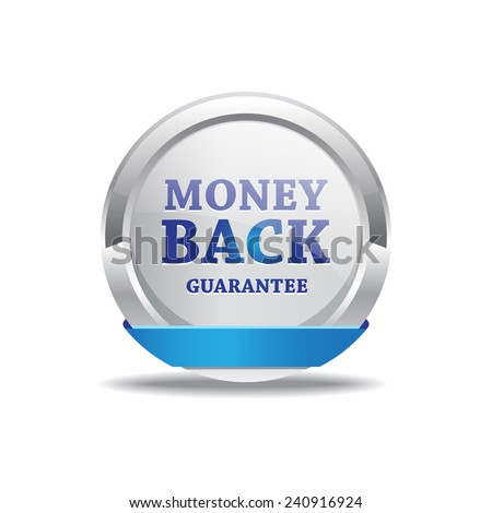 Money Back Guarantee Button - stock vector