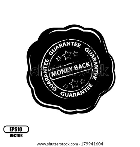 Money Back Guarantee wax seals - vector. - stock vector
