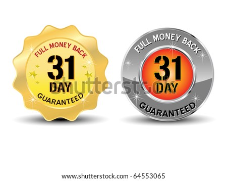 Money Back Gurantee icon - Vector - stock vector