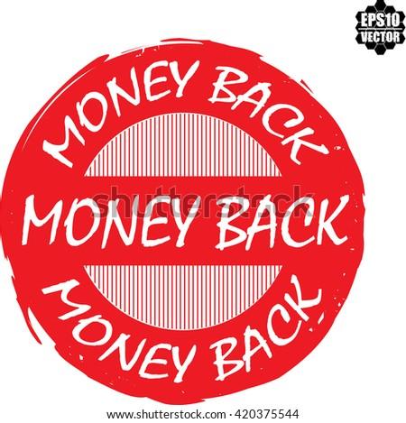 Money back stamp.vector - stock vector