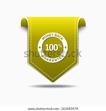 Money Back Yellow Vector Icon Design - stock vector