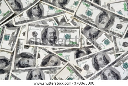 money background, triangle low poly vector - stock vector
