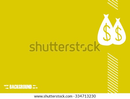 Money bag. Abstract vector background for your work: document, presentation, web and mobile applications, business infographic, illustration template design, banner, site, brochure, cover, poster - stock vector