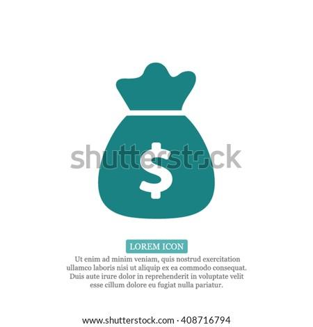 Money bag Icon, Money bag icon flat, Money bag icon picture, Money bag icon vector, Money bag icon EPS10, Money bag icon graphic, Money bag icon object, Money bag icon JPEG, Money bag icon picture - stock vector