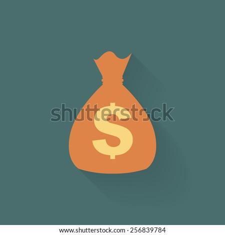 Money bag icon - Vector - stock vector
