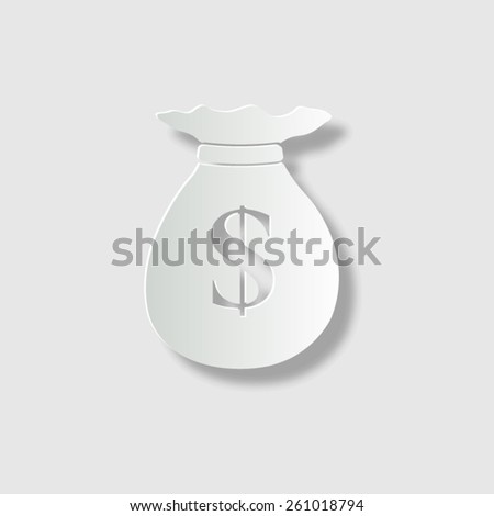 Money bag  - vector icon with shadow