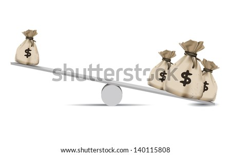 Money,Balance scale,Finance concept,vector - stock vector
