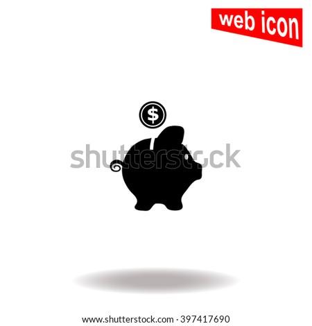 Money box icon. Money box icon vector. Money box icon illustration. Money box icon web. Money box icon Eps10. Money box icon image. Money box icon logo. Money box icon sign. Money box icon art. - stock vector
