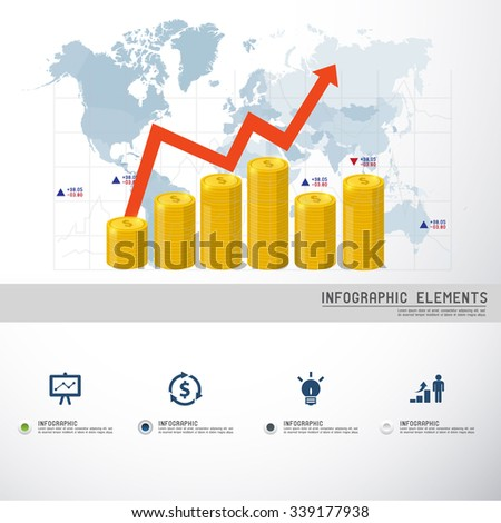 Money Business and Marketing Concept - stock vector