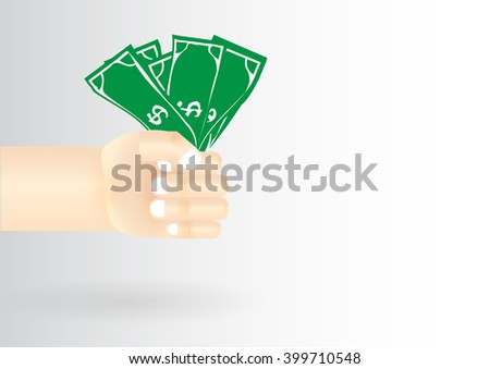 Money cash hand arm - stock vector