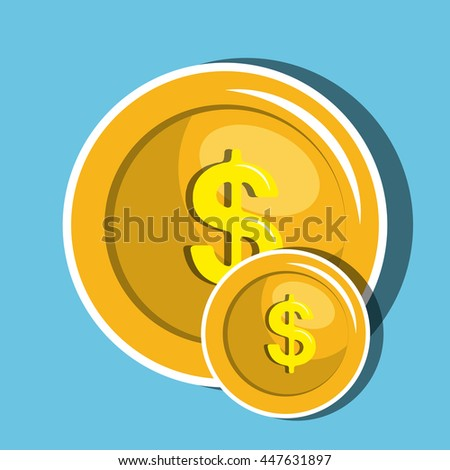 money coin  isolated icon design, vector illustration  graphic