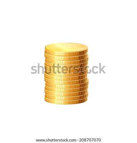 Money coins. Vector - stock vector