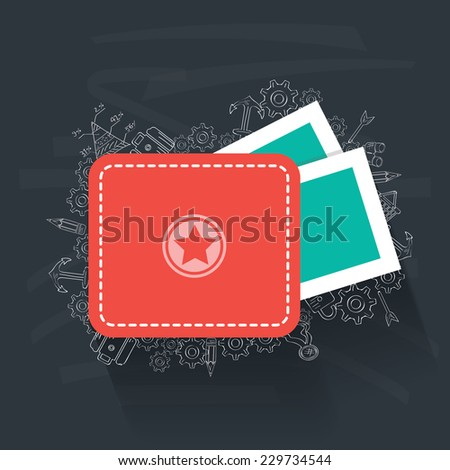 Money concept on blackboard background,clean vector - stock vector