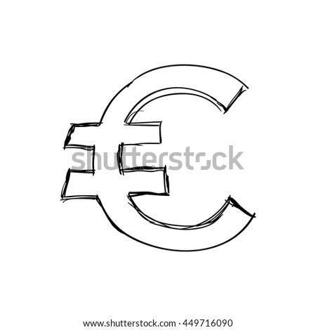 Money concept represented by sign icon. Isolated and sketch illustration