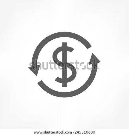 money convert icon - stock vector