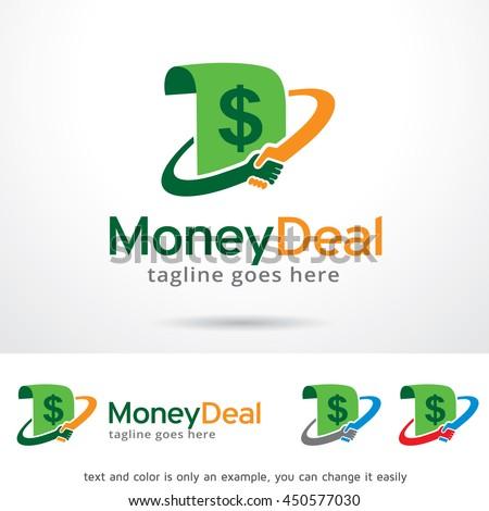 money deal logo template design vector stock vector royalty free
