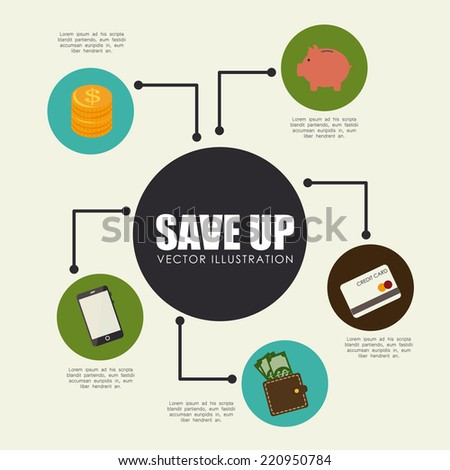 Money design over beige background, vector illustration - stock vector