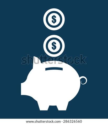 Money design over blue background ,vector illustration. - stock vector
