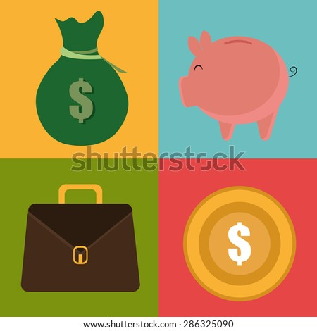 Money design over colorful background ,vector illustration. - stock vector