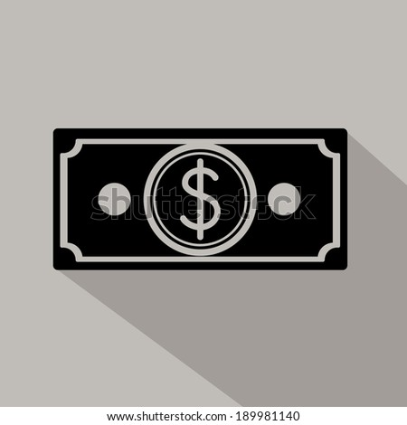 Money design over gray background, vector illustration - stock vector