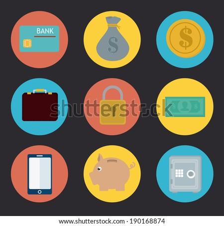 Money design over gray background, vector illustration - stock vector