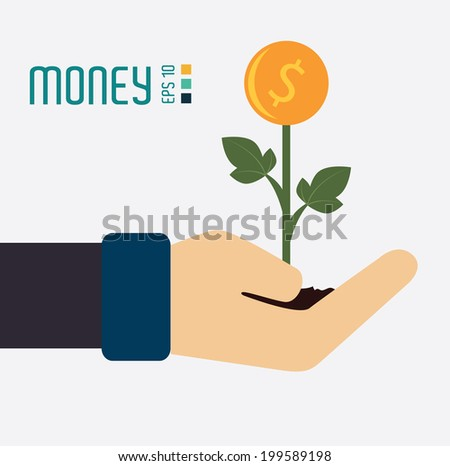Money design over white background, vector illustration
