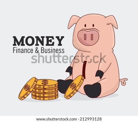 Money design over white background, vector illustration - stock vector