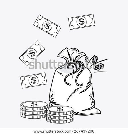 Money design over white background, vector illustration.