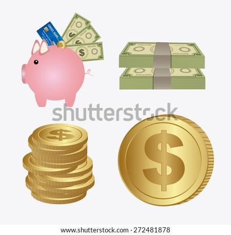 Money design, vector illustration - stock vector
