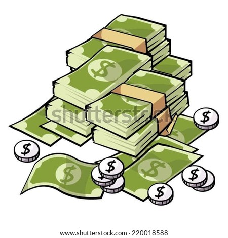 Money, dollar - stock vector
