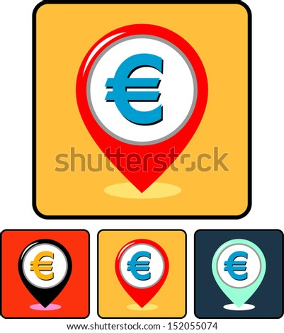 Money - Euro currency sign vector icon