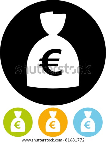 Money - Euro currency sign vector icon - stock vector